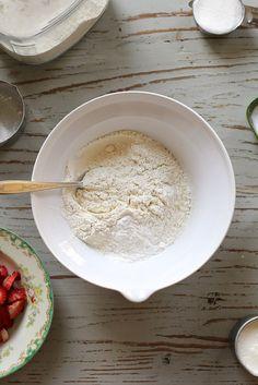 tiny strawberry cream scones