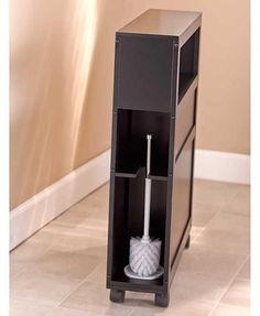 Slim Bathroom Storage Cabinet Rolling 2 Drawers Open Shelf Space Saver is part of Bathroom Organization Shelf - 4 H MDF Slim Bathroom Storage Cabinet, Rustic Bathroom Cabinet, Bath Storage, Bathroom Organisation, Brown Bathroom, Mint Bathroom, Parisian Bathroom, Simple Bathroom, Diy Cabinets