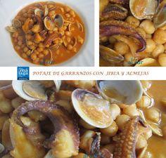 La cocina malagueña-Alsurdelsur: Potaje de garbanzos con jibia y almejas