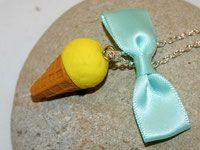 Sautoir glace citron