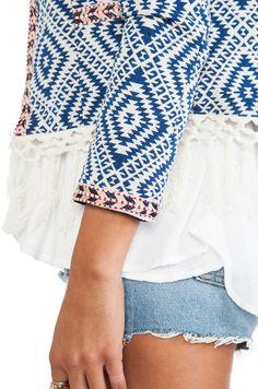 Tularosa Santa Fe Fringe Jacket in Multi | REVOLVE