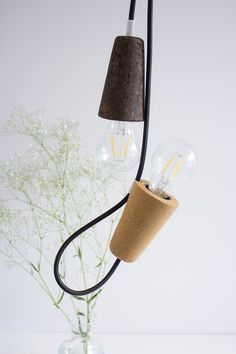 LED cork pendant lamp SININHO by Galula design Mendes'Macedo