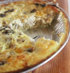 Chicken, Mushroom & Rosemary Quiche! Adding chicken to a quiche makes it a very filling dish. With great flavor from the rosemary this quiche recipe is ideal to serve to your family for dinner.