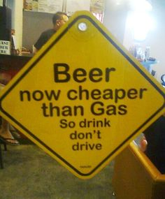 Be responsible... save your beer money