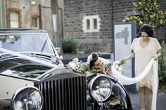 Just a quick check of Angela's makeup before the ceremony! The Wedding of Angela and Michael 30th November 2014 Photo by Peter Eye To Eye Photography #weddingphotos #weddingcars #wedding #bride #groom #rollsroyce #convent #weddingcarsmelbourne #weddingphotography