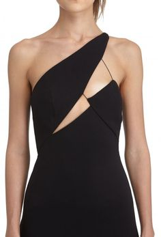 Image 2 of Pembroke Fitted Midi Dress with Structured Cut Out Top · Black · AQ/AQ