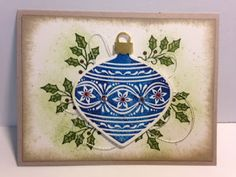 Embellishes Ornaments, Gorgeous Grunge, Christmas Card, Stampin' Up!, Rubber Stamping, Handmade Cards