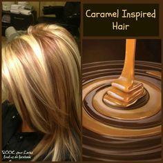 Caramel Inspired Hair - Blonde and Caramel Foils https://www.facebook.com/pages/Rock-your-Locks/133025596754055?ref=hl