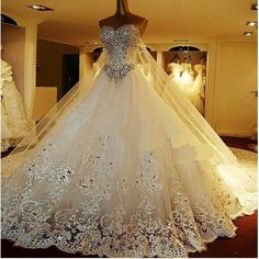 Bling, Bling, Bling wedding dress.