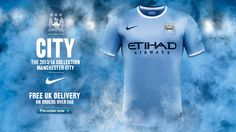 CITY RISING: New Nike 2013/14 home shirt detail