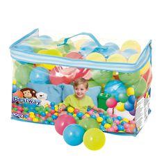 100 balles multicolores Bestway pour enfant de 2 ans à 8 ans - Oxybul éveil et jeux