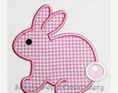On Sale Easter Bunny Machine Embroidery Applique Design