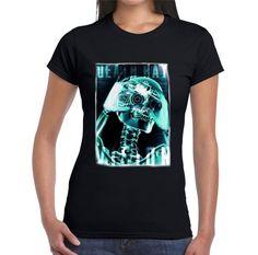 Velocitee Ladies Death Ray T-Shirt X-Ray Skeleton Skull Radiographer V177 #Velocitee