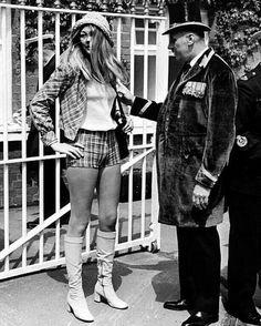No hot pants allowed in the Royal Enclosure at Ascot, 1971.
