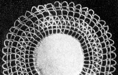 Doily with Cluny Crochet pattern originally published in Crochet For Your Home, Book 67. #doilypatterns