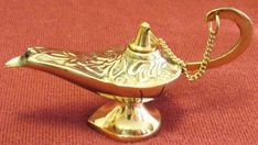 Small Aladdin's Oil And Incense Brass Lamp New Never Brass Lamp, Brass Metal, Silver Pendant Necklace, Sterling Silver Bracelets, Love Shape, Vintage Candles, Gypsy Jewelry, Oil Lamps, Black Glass