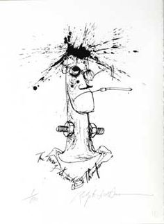 absolutely love Ralph Steadman, and this picture of Hunter S. Thompson