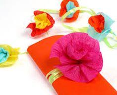 flores de papel crepe utilisima - Buscar con Google