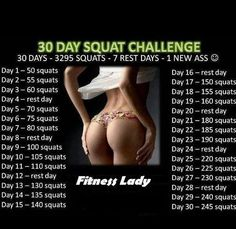 30 Day Squat Fitness challenge, can be done ANYWHERE (like work:)