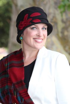 1e4d4a40612 Lady Rose Fleece Cloche Hat For Women. Hats Scarves and More