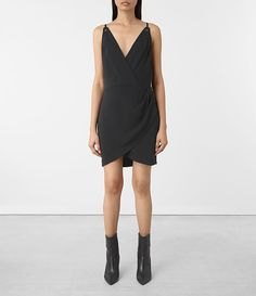Womens Cosmo Dress (OIL BLACK) - product_image_alt_text_1