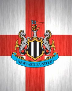 Newcastle United FC club and country wallpaper. Newcastle Shirt, Newcastle United Fc, St George Flag, St James' Park, World Football, Badges, Extensions, Graphic Art, England