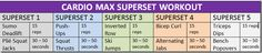 Cardio Max Superset Workout from http://www.tinareale.com/blog/. Check out the link for more.
