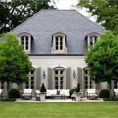 French country exterior, french country house, mansions homes, veranda, c. French Country Exterior, Modern French Country, French Country House, French Country Decorating, French Cottage, Country Style, French Style House, Country House Design, European House