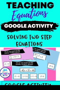 Looking for a self-checking way to practice solving two step equations with an engaging activity? This activity includes 16 problems in google slides where students solve the equations and get immediate feedback on whether correct or not. Note: students use this activity in present mode. Recording sheet is included so students can show their work.Internet suddenly out? No problem. You can print out the problems and have the students complete the activity.
