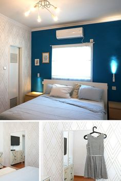 Marker pen wall DIY. How to use marker pen or sharpie pen to create faux wallpaper.