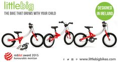 The LittleBig no pedal balance bike (also called a kids push bike or strider bike) is for kids age 2 to There is no need to change bikes when your little one wants to begin riding, pedals can be added too! Push Bikes, Irish Design, Balance Bike, Nursery School, Bike Reviews, 2 Year Olds, Mothers Love, Tricycle, Little Man