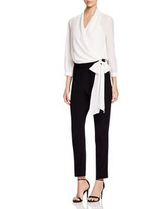 Paule Ka Color-Blocked Jumpsuit Paule Ka, Black Trousers, Dress Codes, Jumpsuits For Women, Work Wear, My Style, How To Wear, Pants, Shopping