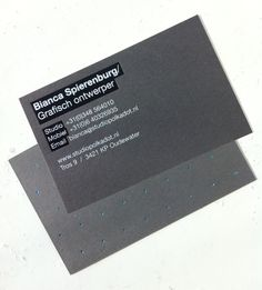Awesome business cards by @bianca spierenburg
