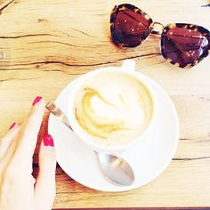 The only way to start the day. White Flats, Start The Day, The Only Way, Miu Miu, Latte, Behind The Scenes, Coffee, Tableware, Everything