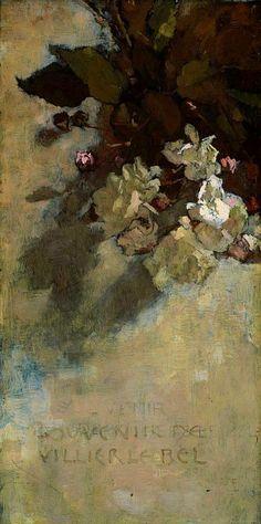 roses - souvenir de villier le bel ~ c.1877-79 ~ by sarah wyman whitman
