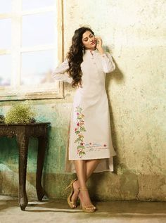 KARMA TC-9003 RATE : 695 - TUCUTE COLOUR PLUS BY KARMA  TC-9000 AND TC-9003 COLOUR FLEX COTTON WITH THREAD EMBROIDERY WORKED DESIGNER FANCY TUNICS KURTIS AT WHOLESALE PRICE AT DSTYLE ICON FASHION CONTACT: +917698955723 - DStyle Icon Fashion