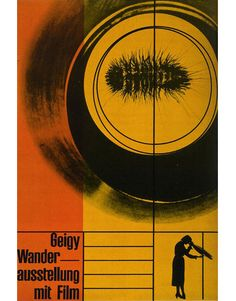Geigy Traveling Exhibtion with Film poster designed by Karl Gerstner in 1953