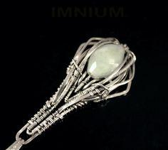 Mist  elongated teardrop pendant  light opaque by IMNIUM on Etsy, $79.99