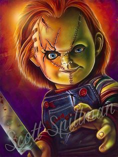 Horror Movies: Childs Play 2 - Chucky Vinyl Figure (Bundled with Pop Box Protector CASE) Chucky Horror Movie, Chucky Movies, Chucky Drawing, Chucky Tattoo, The Walking Dead Poster, Iron Maiden Posters, Childs Play Chucky, Bride Of Chucky, Foto Madrid