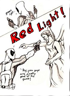 Weeping Angel by CoPopeProductions on deviantART my favorite antihero vs the scariest Doctor Who monster ever! never seen Doctor Who and I still find this funny Spideypool, Superfamily, Pokemon, Fandom Crossover, Dc Memes, Fandoms, Geek Out, The Villain, Marvel Dc Comics