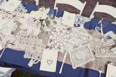 burlap and blue wedding | Wedding, Table, Decorations, Runner, Burlap - Project Wedding