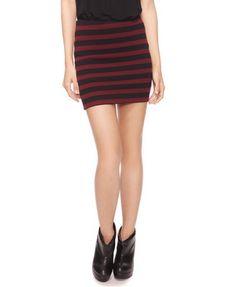 F21 stripes skirt2