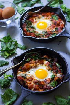 Chorizo Butternut Pizza Hash with Spinach and Baked Eggs - paleo and whole30 friendly, gluten free, grain free, dairy free great for any meal.