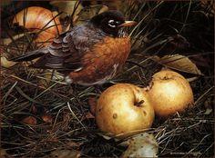 Carl Brenders 'The Apple Lover' 1989   by Plum leaves