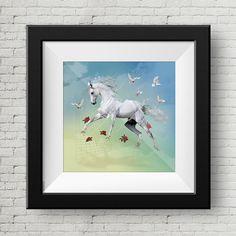 Ilustracion Digital Caballo Blanco, Cuadro, Decoracion, Lamina, Caballo, Impresiones de GraphicHomeDesign en Etsy https://www.etsy.com/es/listing/240004572/ilustracion-digital-caballo-blanco