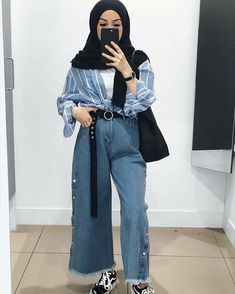 Hair women edgy fashion ideas 45 trendy ideas – Fashion Ideas Waiting You Hijab Chic, Ootd Hijab, Hijab Style, Casual Hijab Outfit, Dress Casual, Casual Hair, Style Hair, Trendy Hair, Cute Casual Outfits