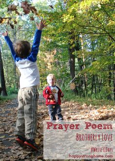 Prayer Poem Brotherly Love - I am loving writing out these prayer poems each week for my boys & family! #write31days #poetry #parenting #faith