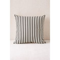 Medford Printed Stripe Pillow (41 CAD) ❤ liked on Polyvore featuring home, home decor, throw pillows, striped accent pillows, stripe throw pillows, striped throw pillows and cotton throw pillows