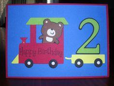 cricut train birthday card