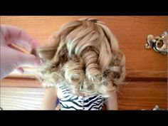 How to Curl Your American Girl Doll's Hair!